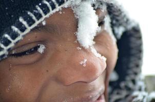 cara de bola de neve foto