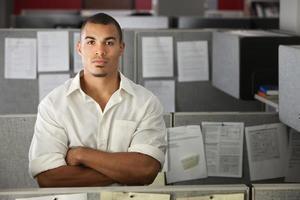 trabalhador de escritório confiante foto