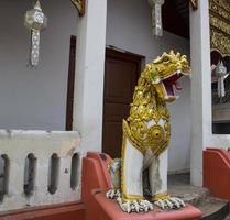 estátua do leão asiático foto