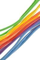 pacotes de cabos elétricos de computador foto