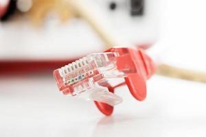 cabo de rede de computador foto