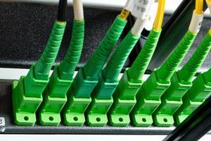 hub de fibra óptica foto