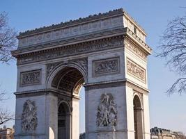 paris - arco do triunfo foto