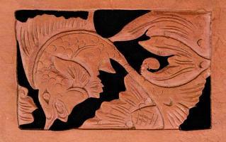 escultura em madeira asiática