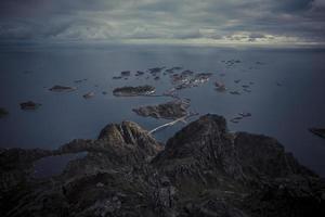 lofoten noruega vista para o mar grupo ilha 18