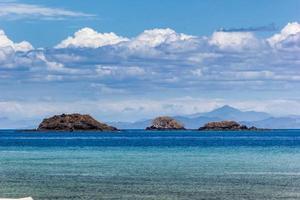 ilhas das árvores no Pacífico foto