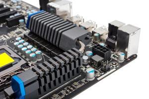 coleção eletrônica - processador moderno de sistema de energia multifásico foto