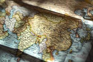 mapa asiático