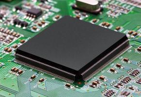 placa de circuito eletrônico com processador foto
