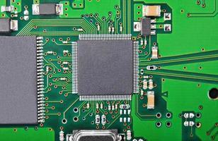 fundo da placa de circuito, dof foto