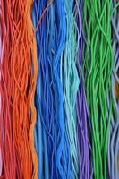 cabos e fios elétricos foto
