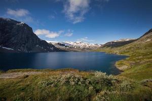 djupvatnet lago azul profundo na Noruega foto
