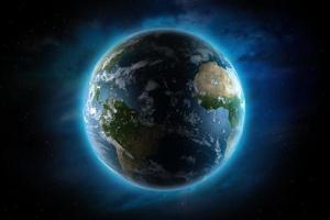 ilustração do planeta Terra foto
