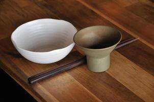 conjunto de pratos asiáticos foto