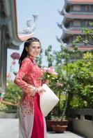 mulher asiática atraente foto
