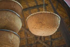 cestas de palha asiática foto