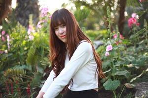 linda menina asiática foto