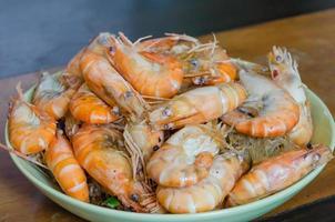 camarão cozido asiático foto