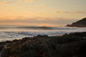 crepúsculo oceano havaí foto