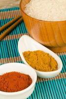 grampos da culinária asiática foto