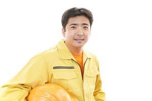 trabalhador asiático sorridente foto