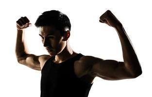 muscular saudável asiático foto