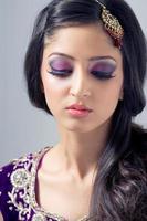 linda noiva asiática