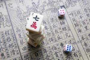 mahjong - jogo asiático foto