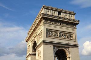 arco do triunfo de paris foto