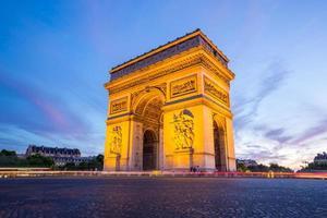 arco do triunfo paris foto
