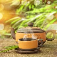 jogo de chá asiático clássico foto