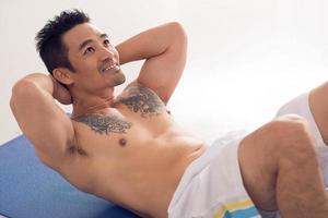 atleta asiático foto