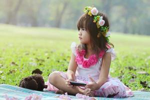 menina asiática