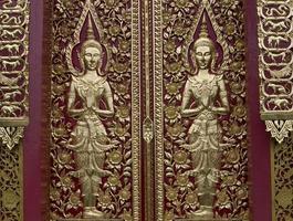 arte asiática da escultura do anjo foto