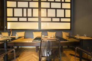 interior asiático moderno restaurante foto