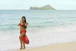 dançarino de havaí foto