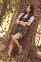 retrato linda mulher asiática foto