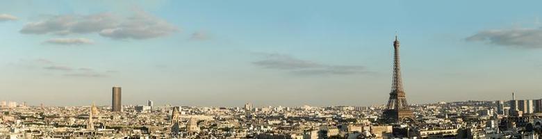 torre eiffel do arco do triunfo foto