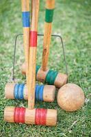 varas de croquet foto