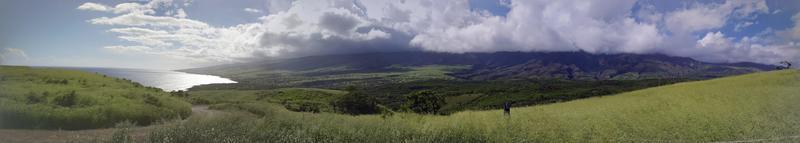 panorama de pastagens da baía de nuu foto