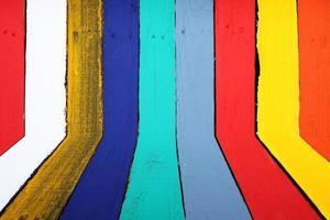 parede em perspectiva colorida