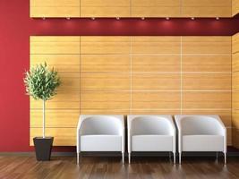 design de interiores da recepção moderna foto