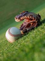 beisebol no campo foto