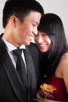 casal asiático foto