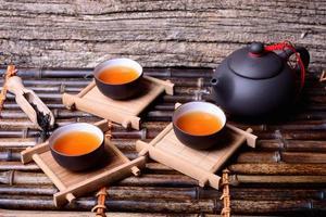 chá asiático foto