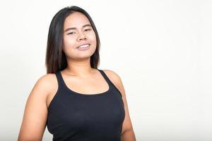 mulher asiática com excesso de peso foto