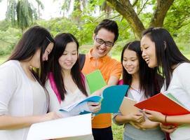 estudantes asiáticos foto