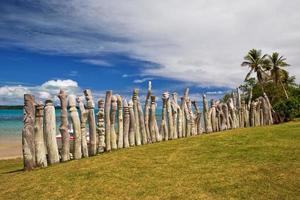 memorial aos missionários em uma remota ilha do pacífico foto