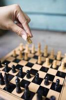 competição de xadrez foto