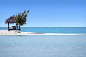 paisagem da ilha de arutanga nas ilhas cook de aitutaki lagoa foto
